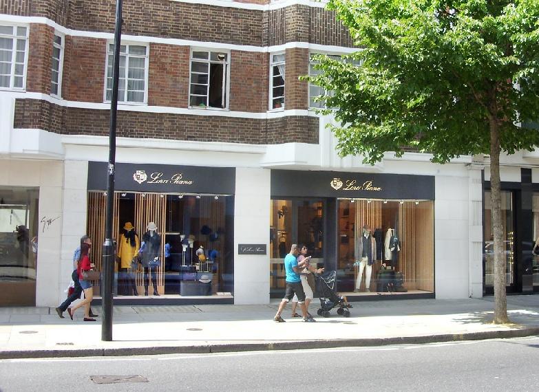 Loro Piana shop in London's Knightsbridge