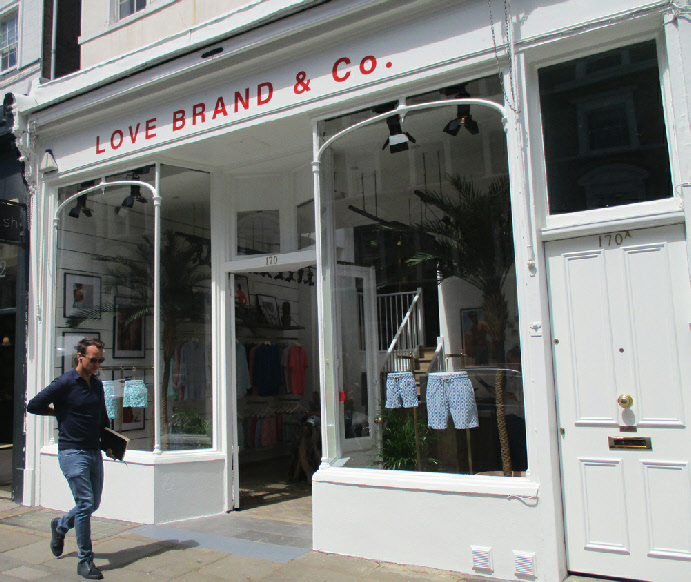Love Brand and Co swimwear shop in London's Notting Hill