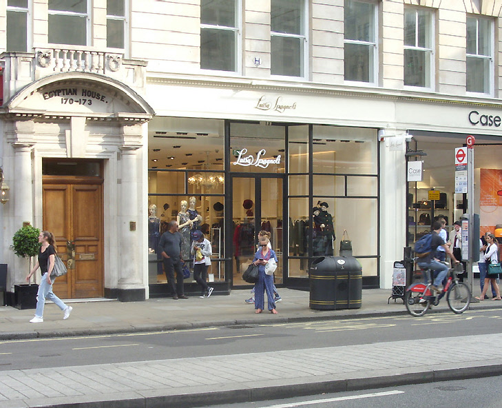 Luisa Spagnoli womenswear shop on London's Piccadilly