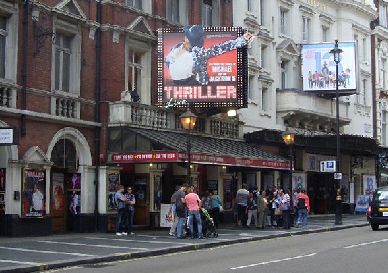 Lyric Theatre on London's Saftesbury Avenue