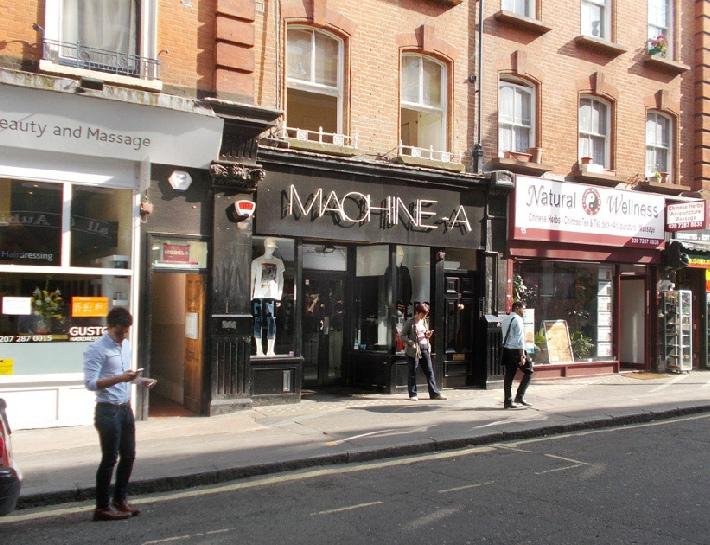 Machine-A fashion shop in London's Soho.