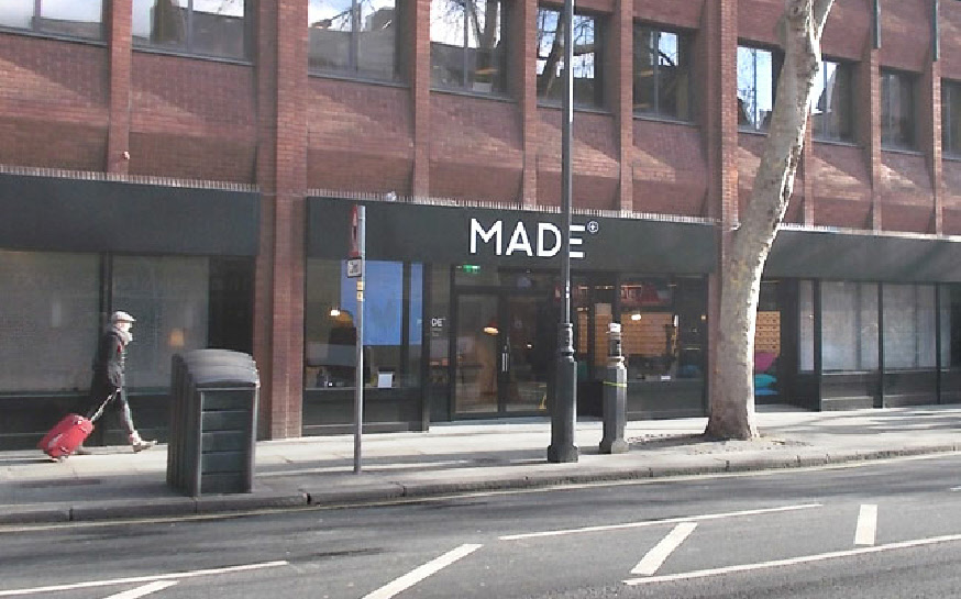 Made furniture showroom in Central London