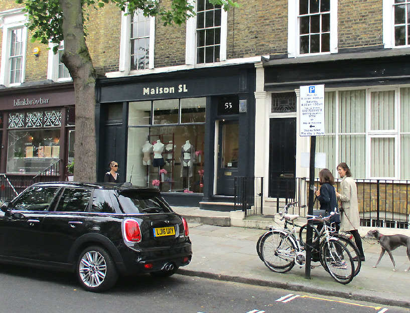Maison SL lingerie shop in London's Notting Hill