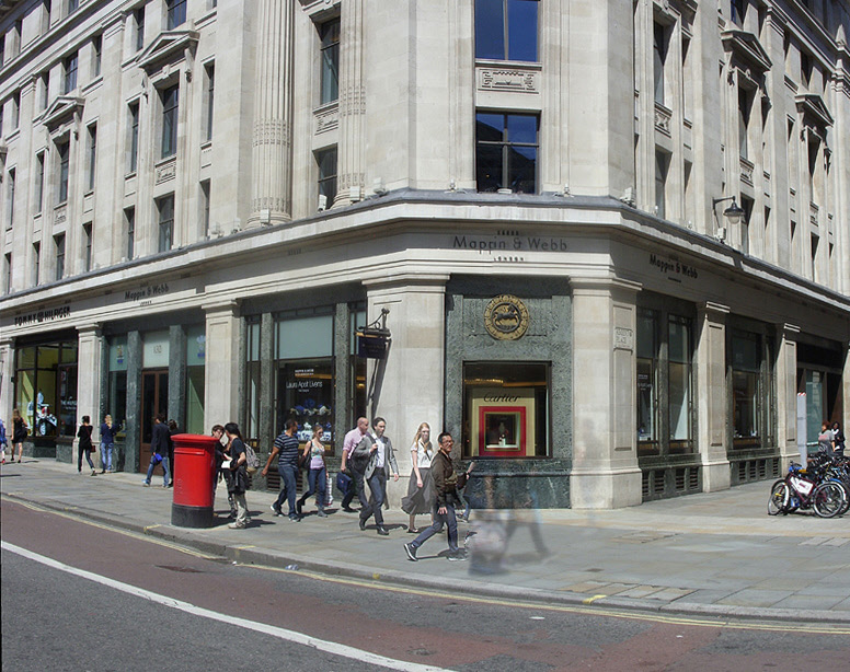 Mappin and Webb jewellers shop on London's Regent Street