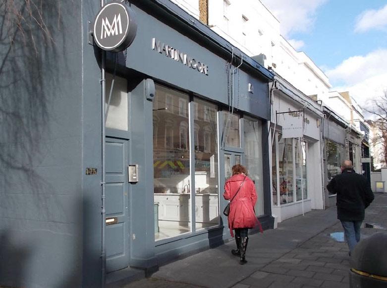 Martin Moore kitchen showroom in London