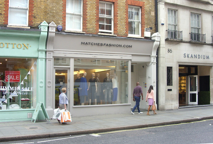 Matches fashion shop in London's Marylebone