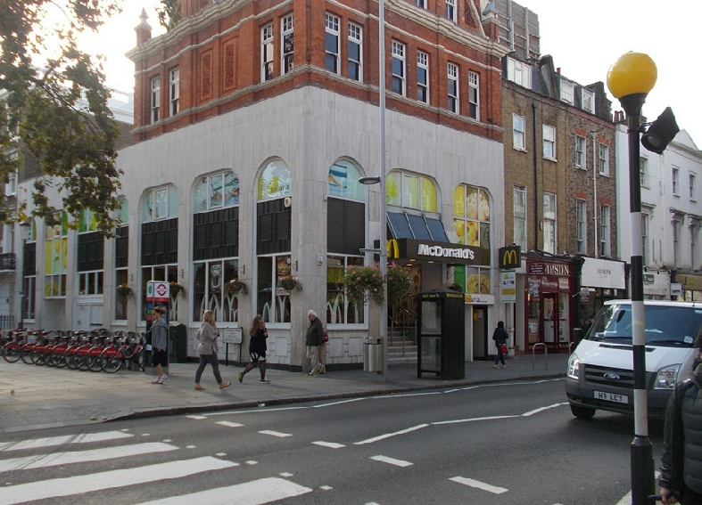 McDonalds restaurant on King's Road in London's Chelsea