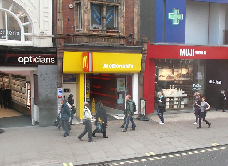 McDonalds burger restaurant on London's Oxford Street