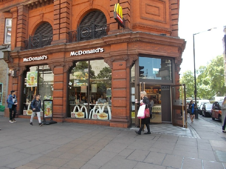 McDonalds restaurant near Oxford Circus in London