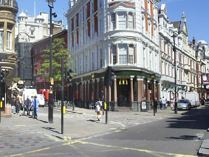 McDonalds on Shaftesbury Avenue in London's Soho