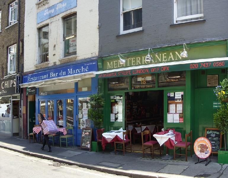 Mediterranean Cafe in London's Soho