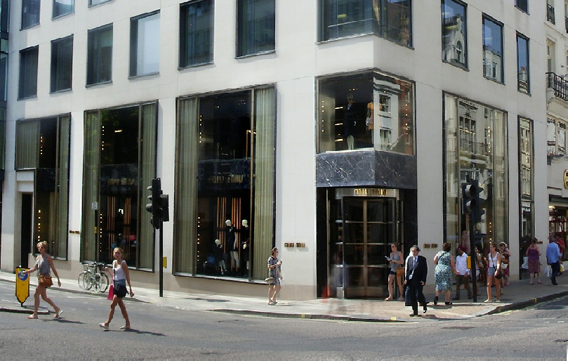 Miu Miu womenswear shop in London's Mayfair