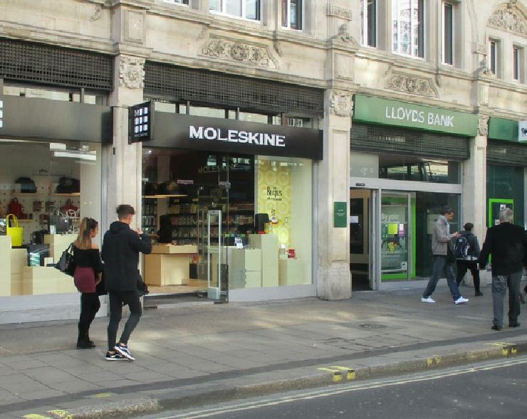 Foot Locker shoe shop on Oxford Street in London