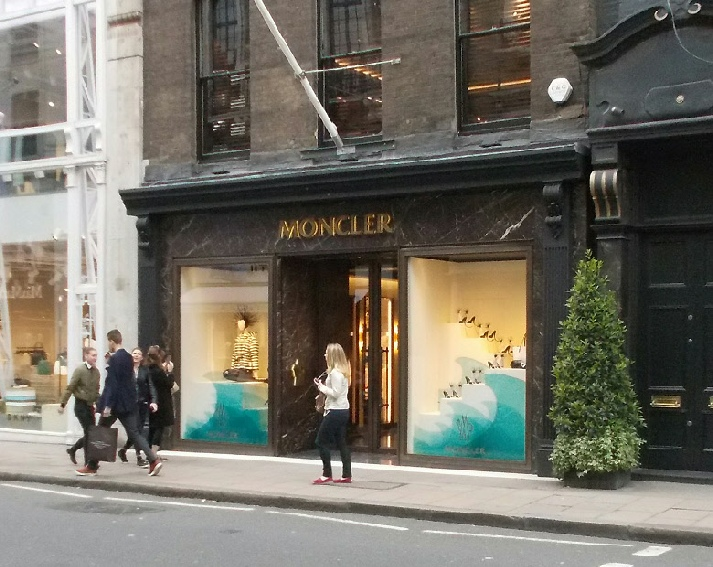 Moncler shop on Old Bond Street in London's Mayfair