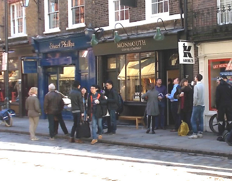 The Monmouth Coffee shop in London's Seven Dials