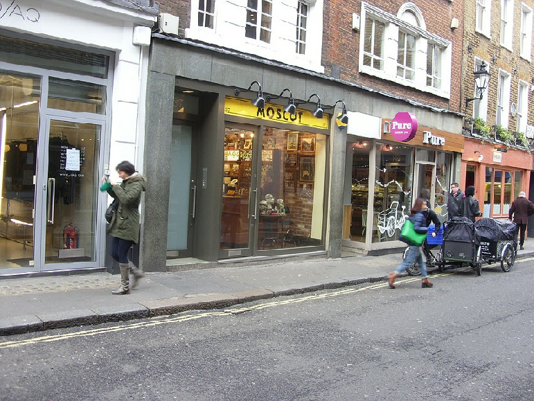 Moscot glasses shop in London's Soho