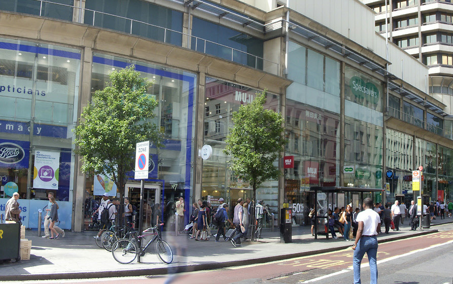 Muji shop on London's Tottenham Court Road