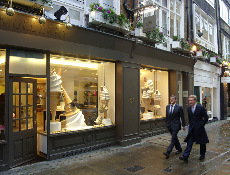 The Mulberry shop in Gee's Court,  St Christopher's Place