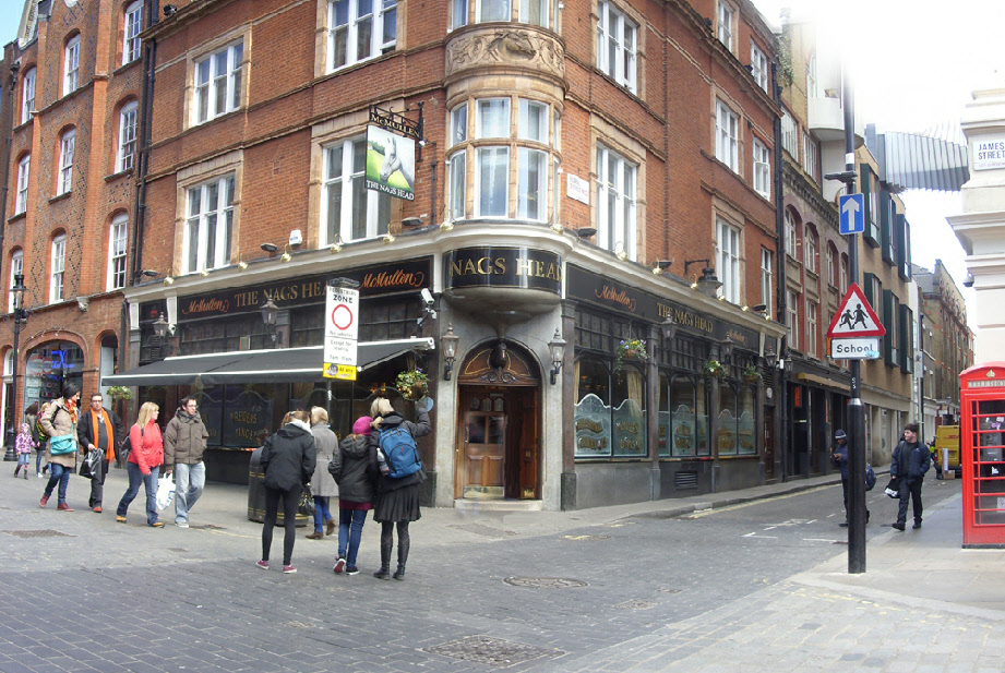 Nag's Head pub in London's Covent Garden