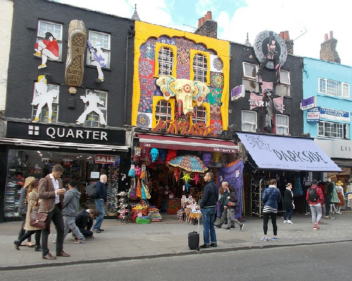 Namaste Indian crafts shop in London's Camden Town