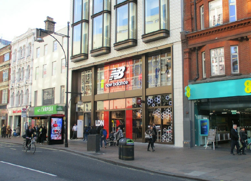 New Balance sports shoes and sportswear shop in London