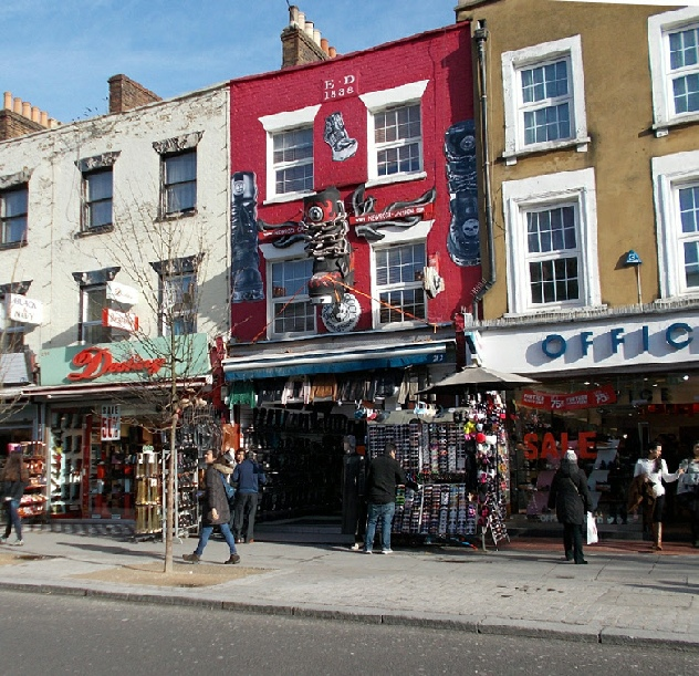 Newrock boots and shoe shop in London's Camden