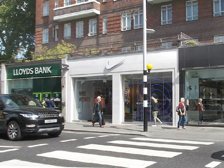 Nike women's sportswear shop in London's Chelsea