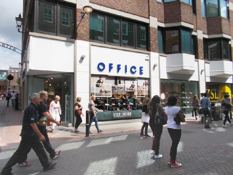 Office shoe shop on London's Carnaby Street