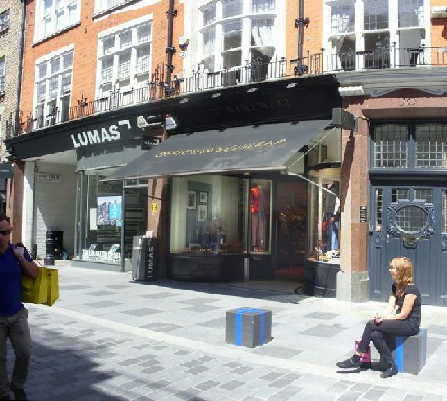 Officina Slowear shop in London's Mayfair
