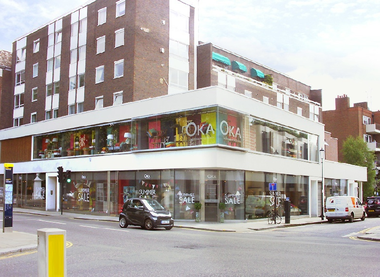 Oka furniture shop on Fulham Road in London's Chelsea