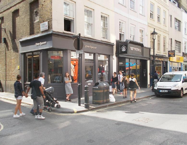 Oliver Spencer menswear shop in London's Soho