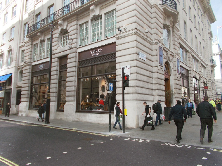 Osprey store near London's Piccadilly Circus