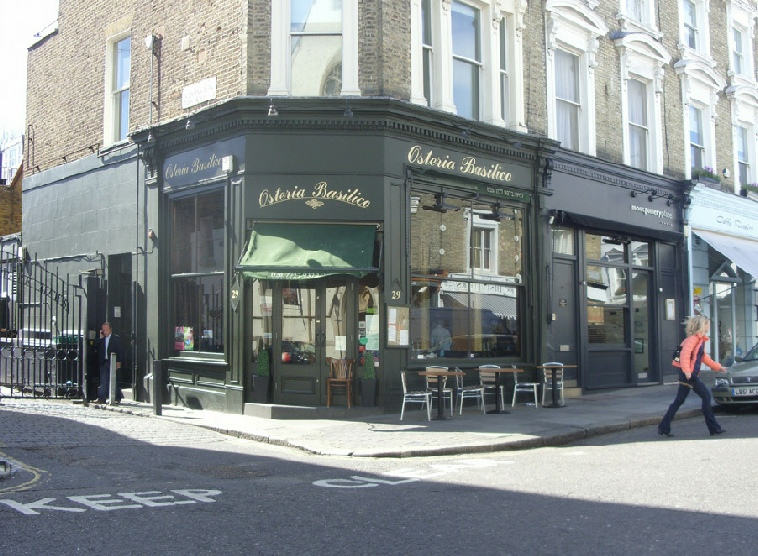 The Osterica Basilico Italian restaurant in London's Notting Hill