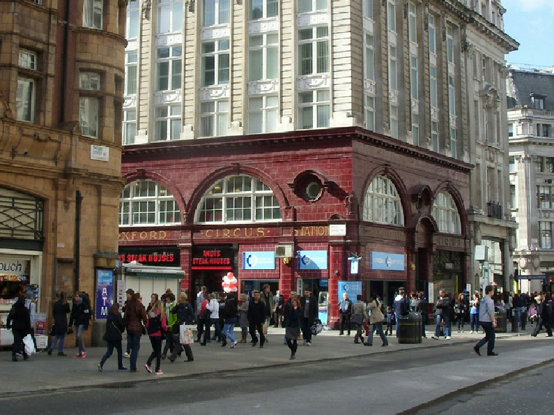 Oxford Circus Station on London's Oxford Street