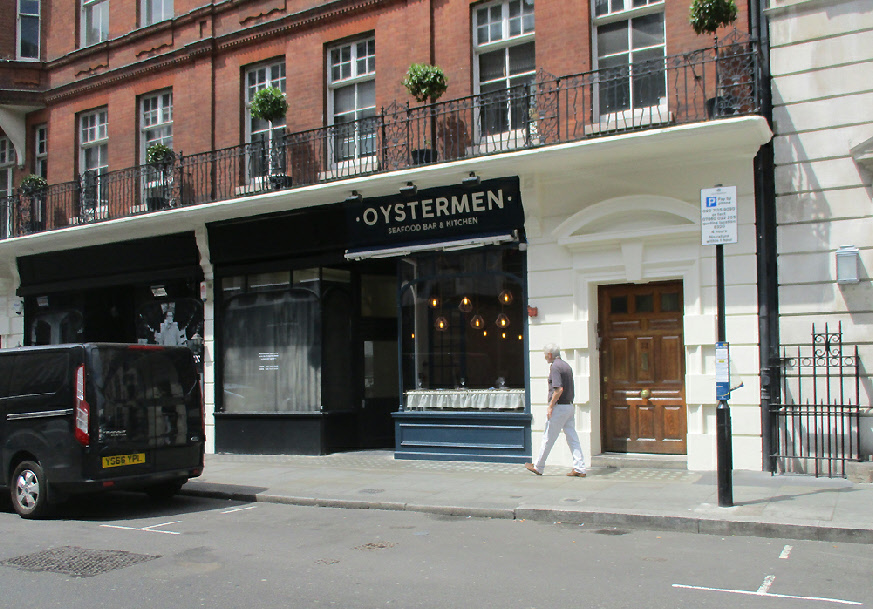 Oystermen seafood restaurant in London's Covent Garden