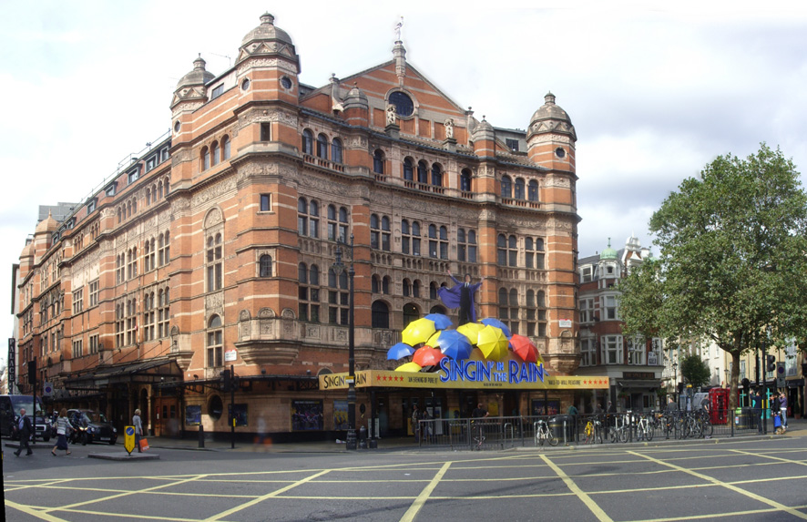 Palace Theatre at Cambridge Circus in London's Soho