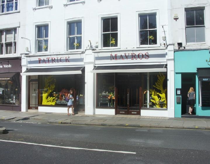 Patrick Mavros shop in London's Chelsea