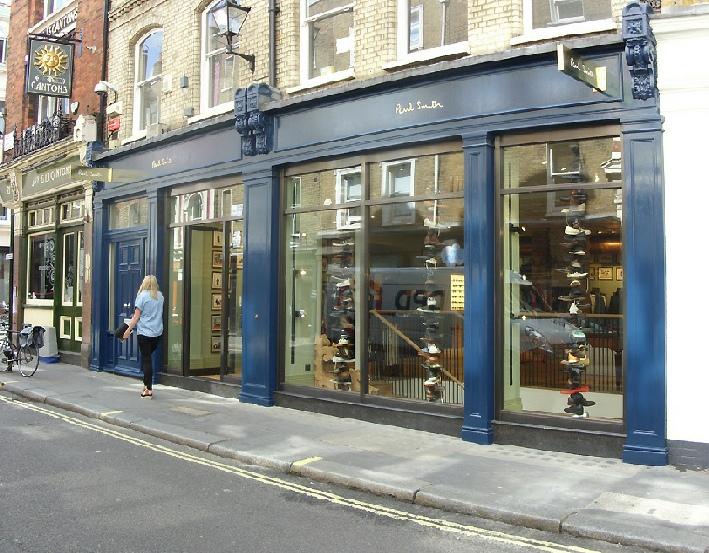 Paul Smith men's jeans shop in London's Carnaby