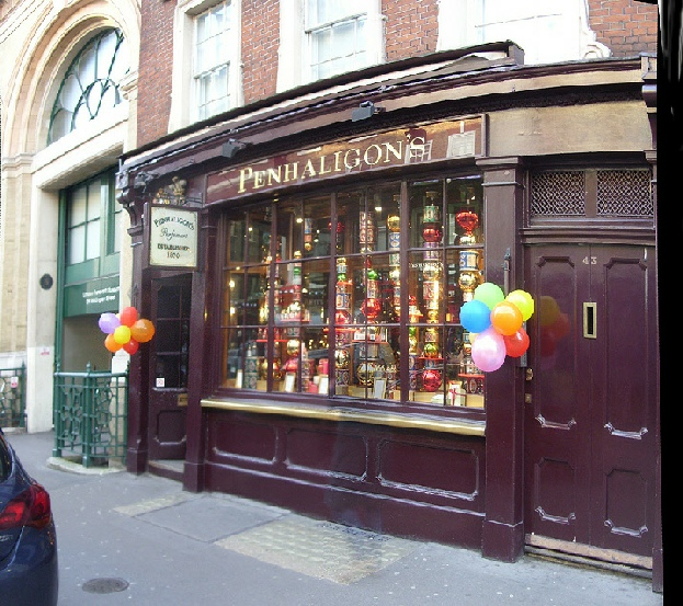 Penhaligon's English perfumes shop in London's Covent Garden