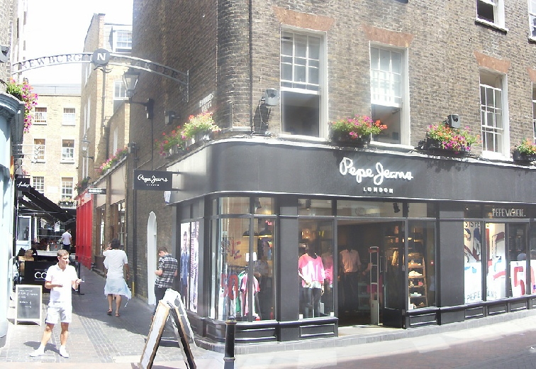 Pepe Jeans shop on London's Carnaby Street