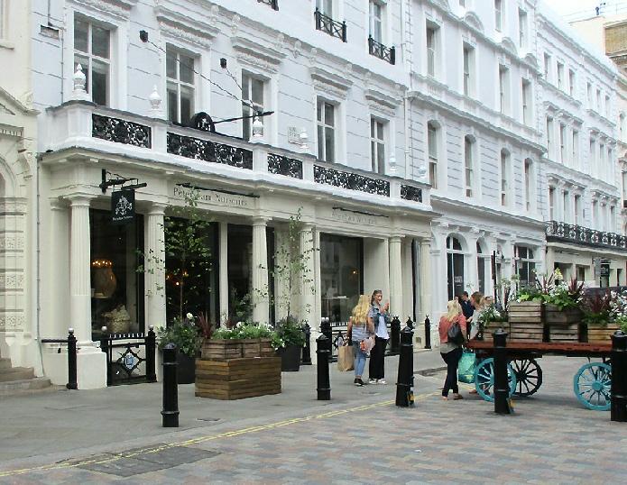 Petersham Nurseries shop in London's Covent Garden