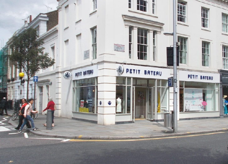Petit Bateau children's clothes shop in London's Chelsea