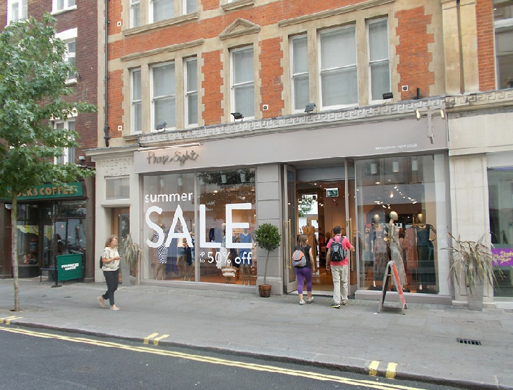 Phase Eight womenswear shop in London, just off Oxford Street