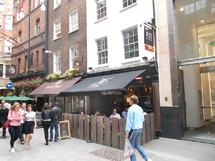 Pix pintxos bar in London's Carnaby