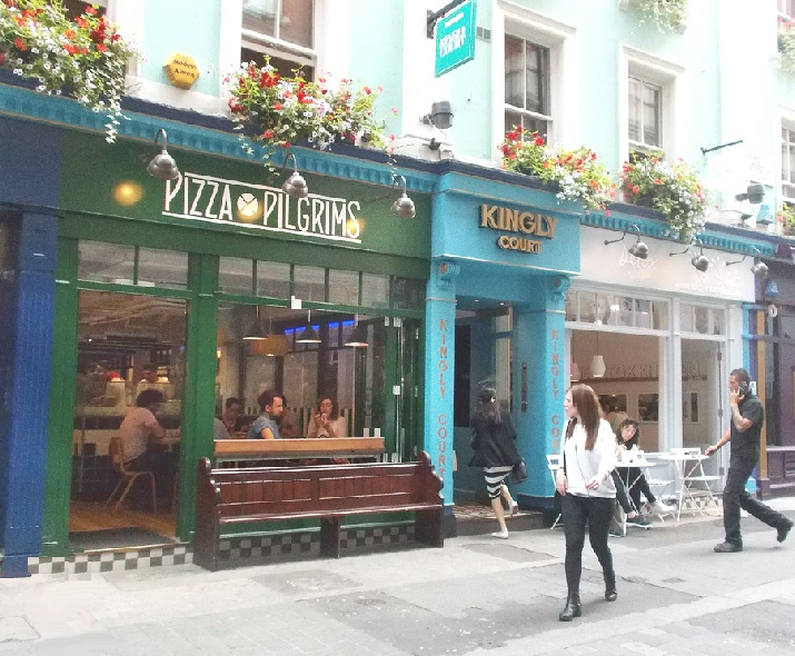 Pizza Pilgrims restaurant in London's Carnaby