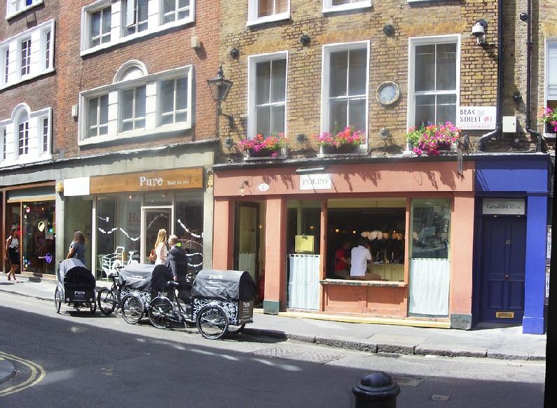 Polpo Italian restaurant in London's Soho