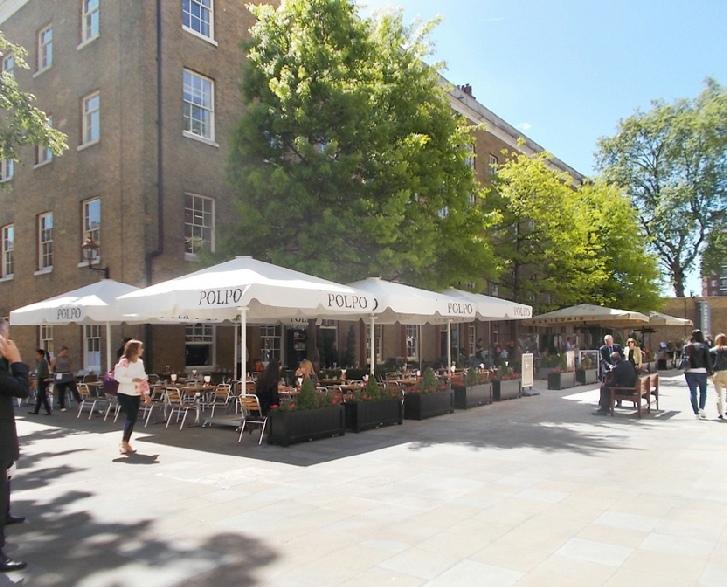 Polplo Italian restaurant in Chelsea's Duke of York Square