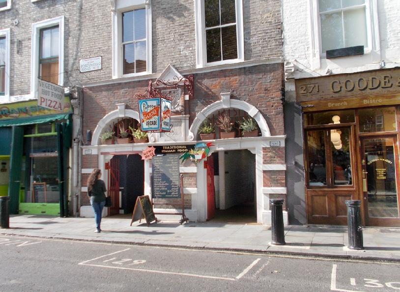Portobello Garden Arcade on London's Portobello Road