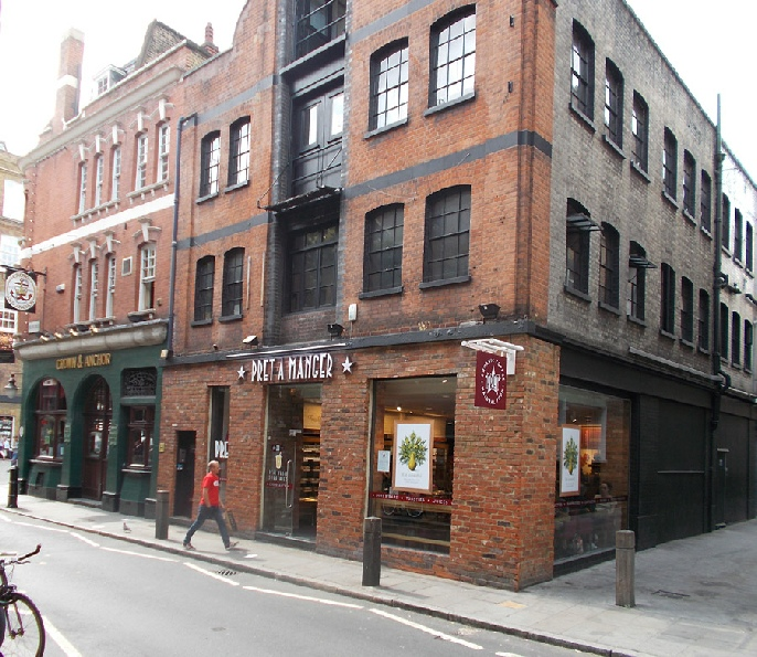 Pret a Manger sandwich bar in London's Covent Garden