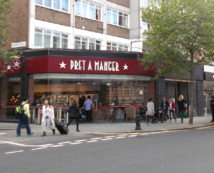 Pret a Manger sandwich bar on Chelsea's King's Road